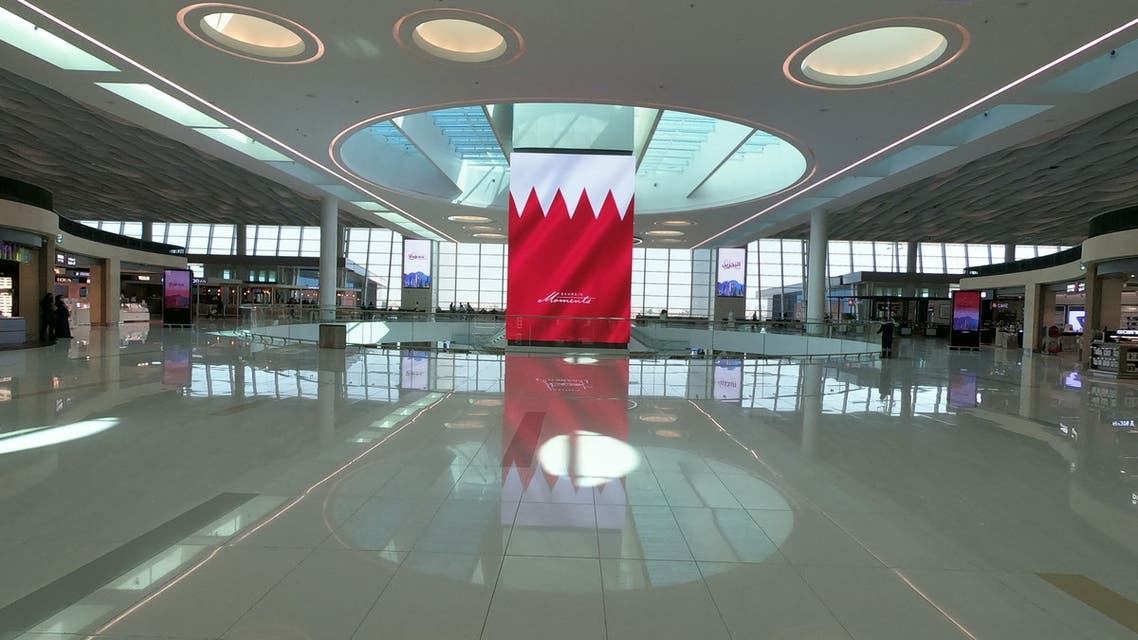 A picture taken on March 29, 2021 shows the new passenger terminal of Bahrain International Airport, south of the Bahraini capital Manama. (AFP)