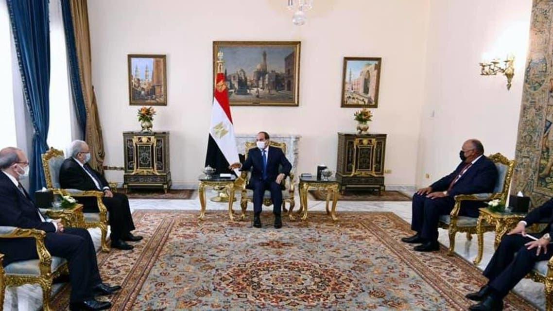 لقاء السيسي ووزير خارجية الجزائر