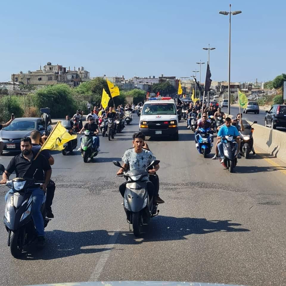 Five killed in ambush during a Hezbollah's militant funeral south of Beirut