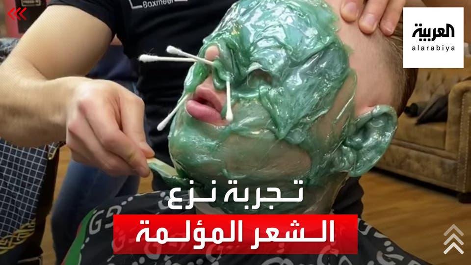 حلاق سوري ينزع شعر زبائنه بـ