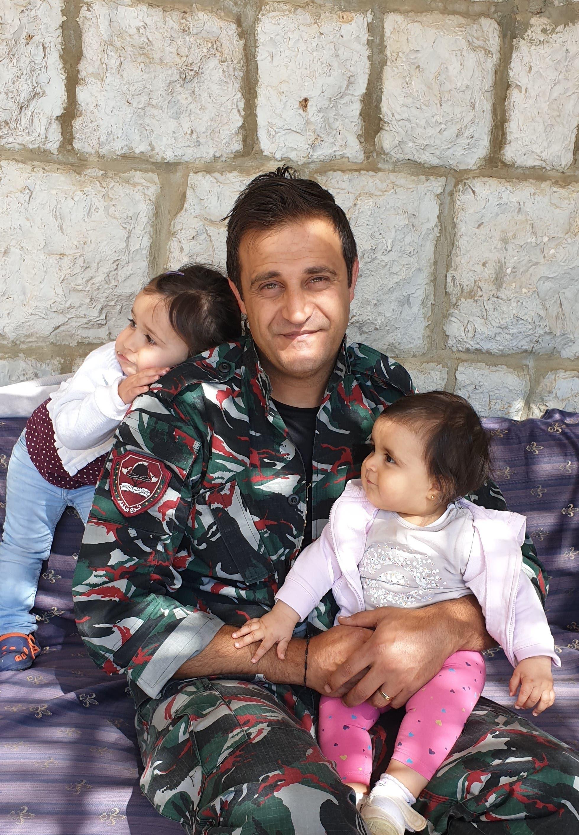Charbel Karam with his daughters. (Credit: Karlen Hitti-Karam)