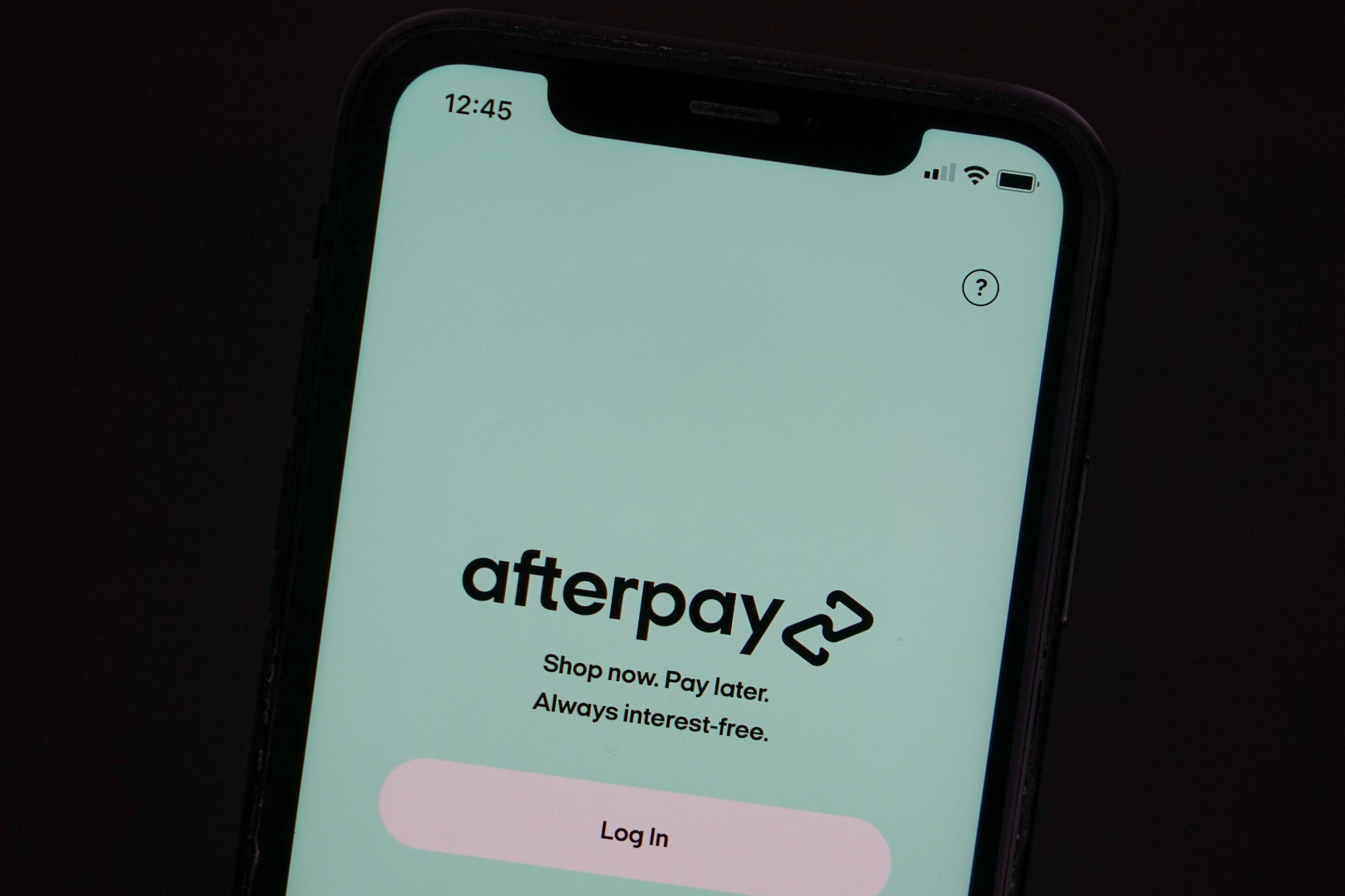 AfterPay application. (File photo)