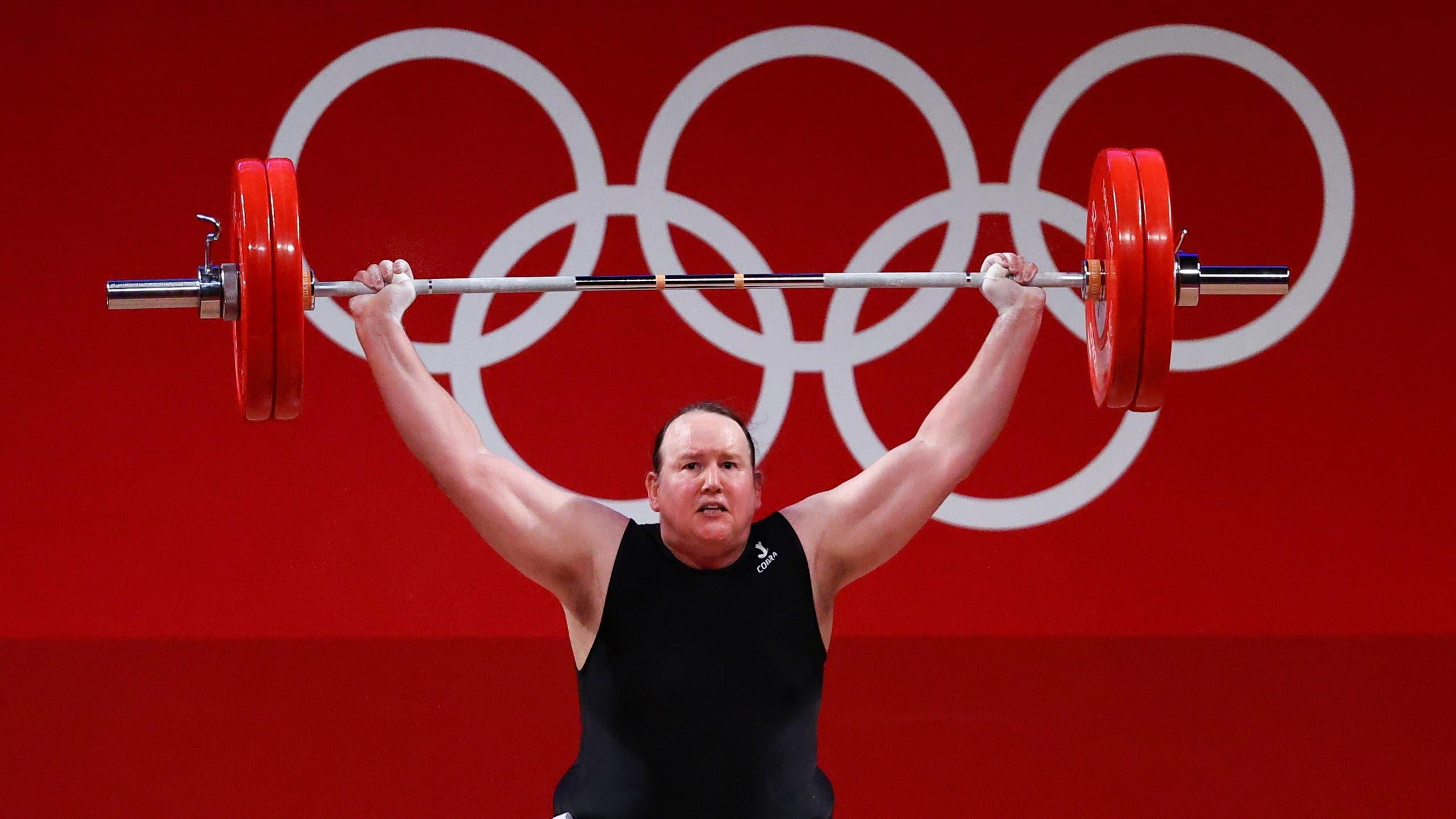Laurel Hubbard of New Zealand in action. (Reuters)