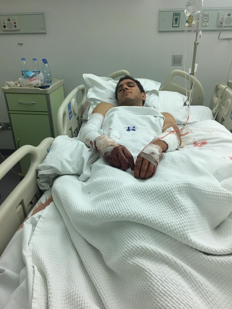 Antonio Merheb at Rizk Hospital on August 5, 2020. (Credit: Antonio Merheb)