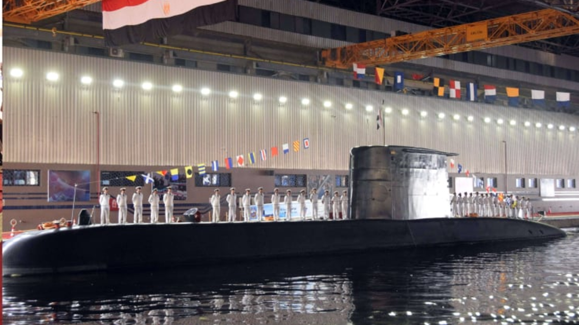 S-44 German-made submarine arrives in Alexandria, Egypt. (Photo courtesy: Egyptian Armed Forces)