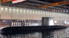 German-made submarine arrives at Alexandria to join Egypt's naval forces