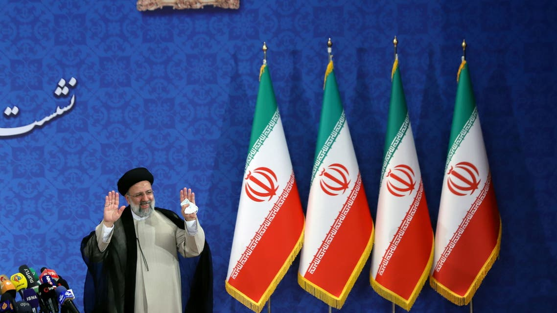 Iran's President-elect Ebrahim Raisi attends a news conference in Tehran, Iran June 21, 2021. Majid Asgaripour/WANA (West Asia News Agency) via REUTERS ATTENTION EDITORS - THIS IMAGE HAS BEEN SUPPLIED BY A THIRD PARTY.