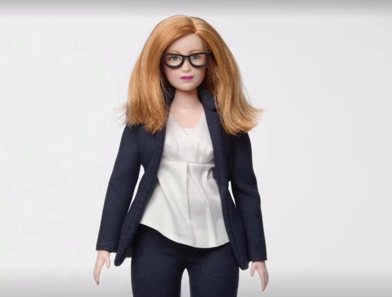 The Barbie doll of Professor Dame Sarah Gilbert. (Reuters)
