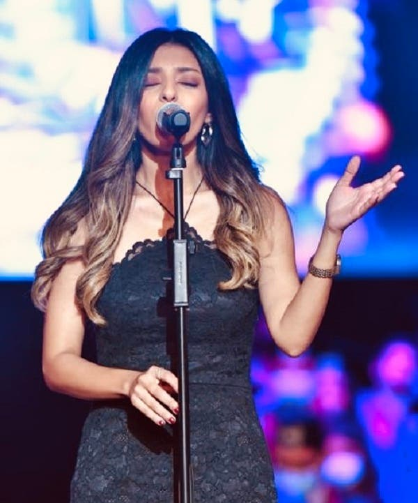 Laura Mekhail singing at the New Ramses College graduation ceremony in Heliopolis, Cairo. (Photo: New Ramses College)