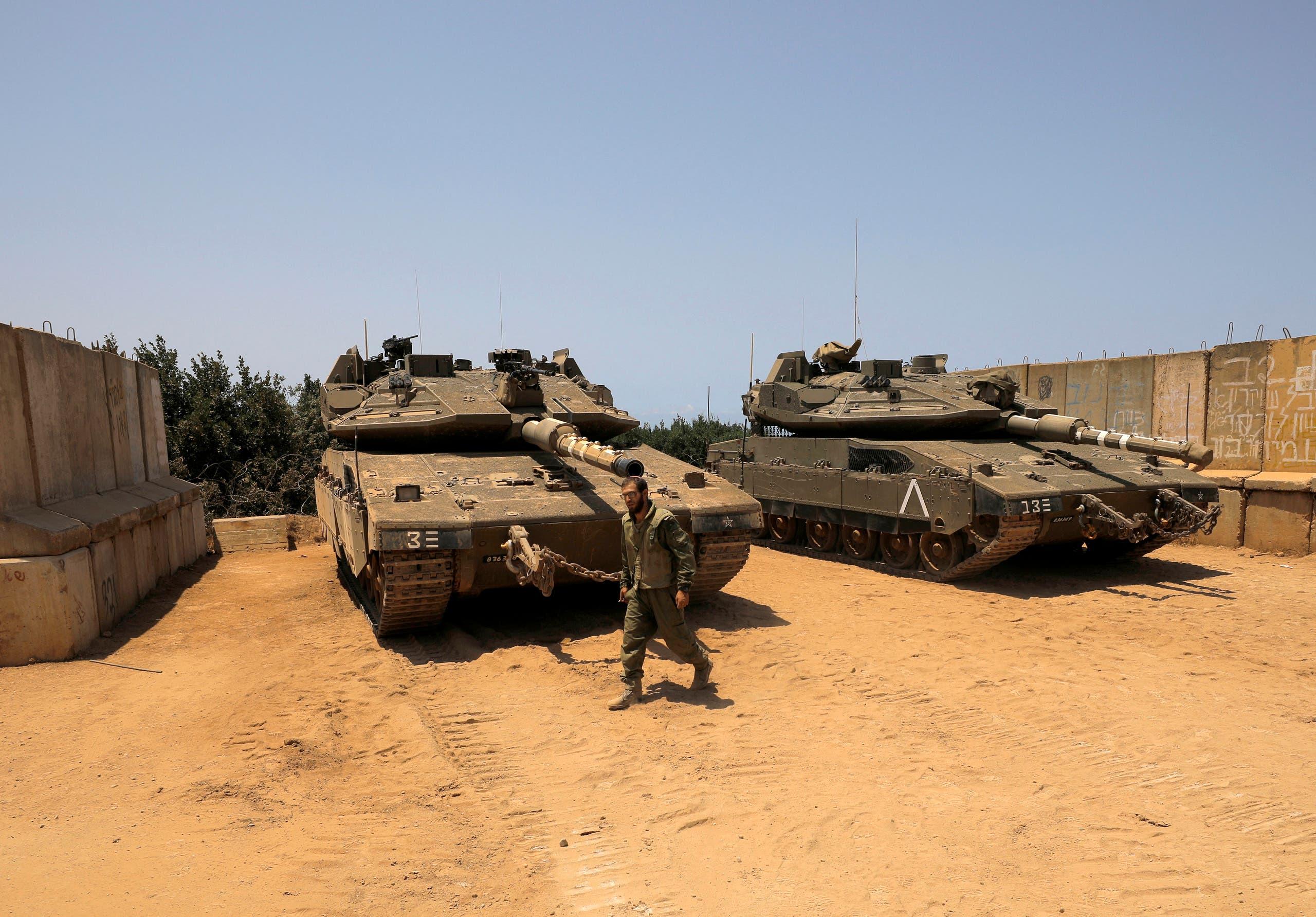 توپخانه اسرائیل در مرز لبنان پس از سقوط موشک در 20 ژوئیه در شمال اسرائیل