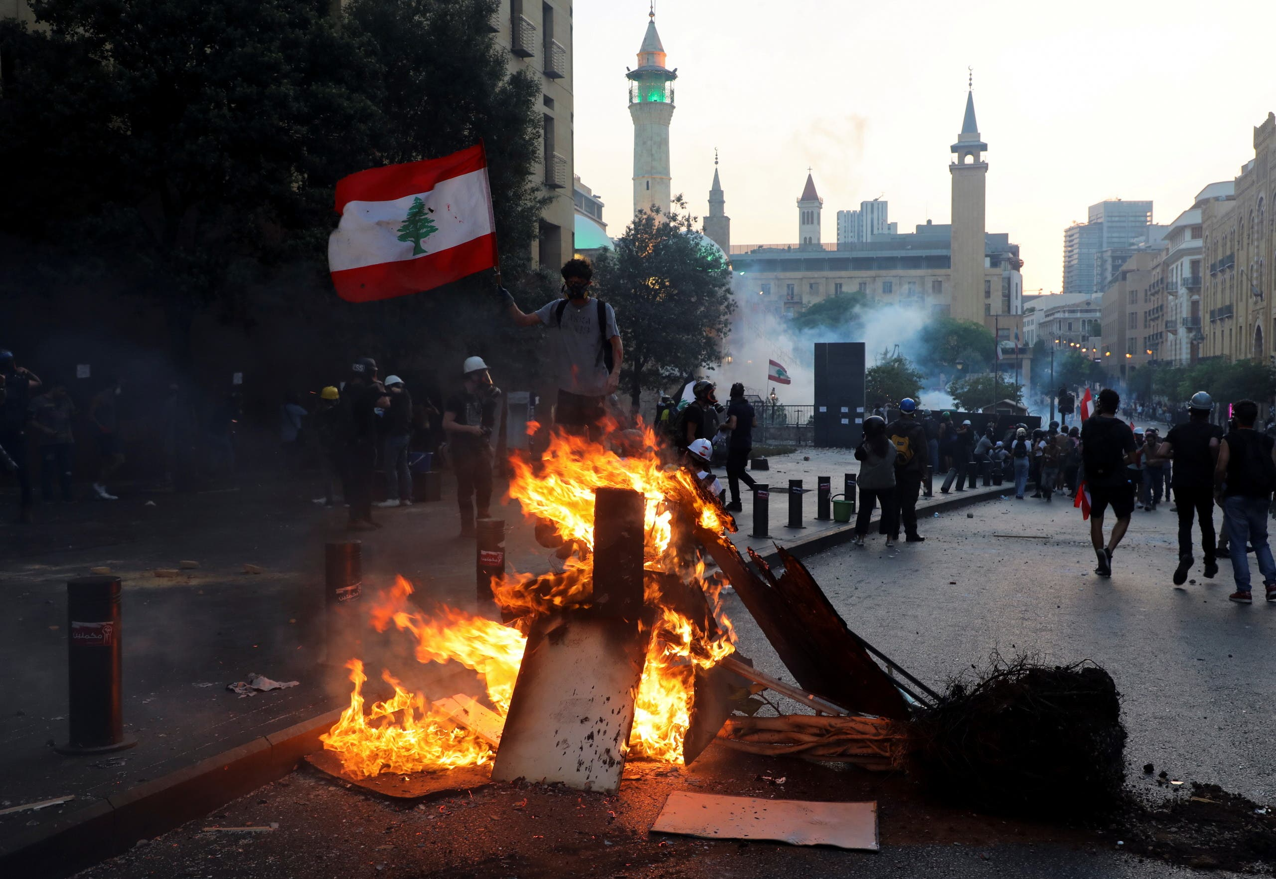 From the protests today in Beirut