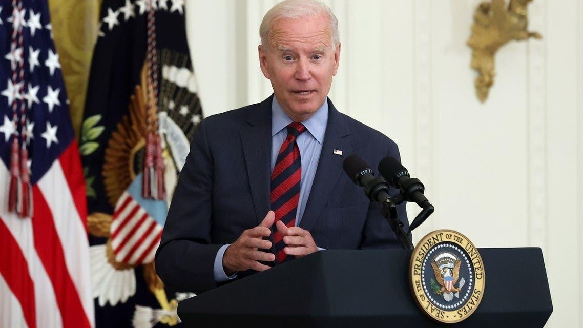 US President Joe Biden speaks to the press, Aug. 3, 2021. (AP)