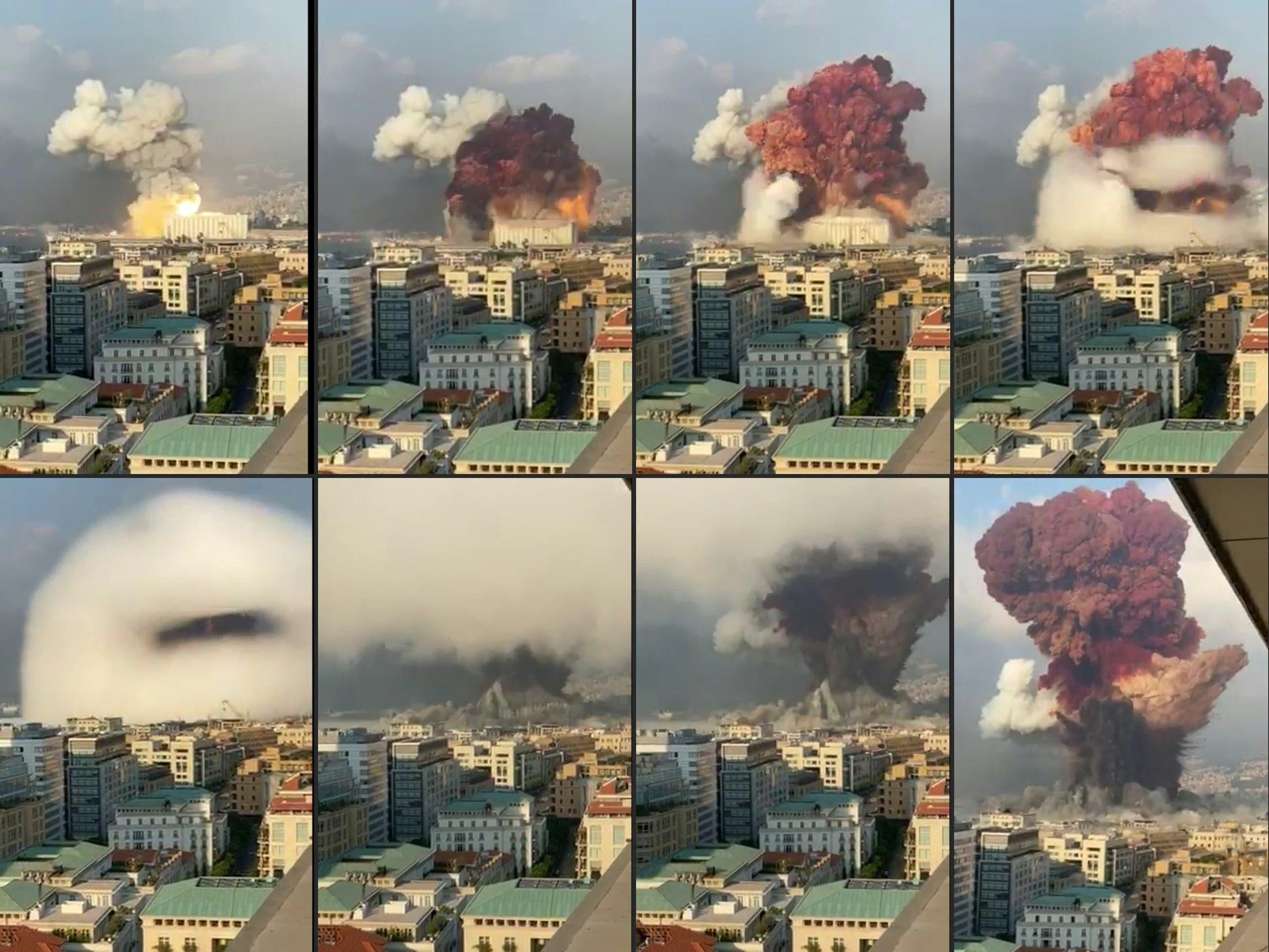 صور تظهر انفجار مرفأ بيروت