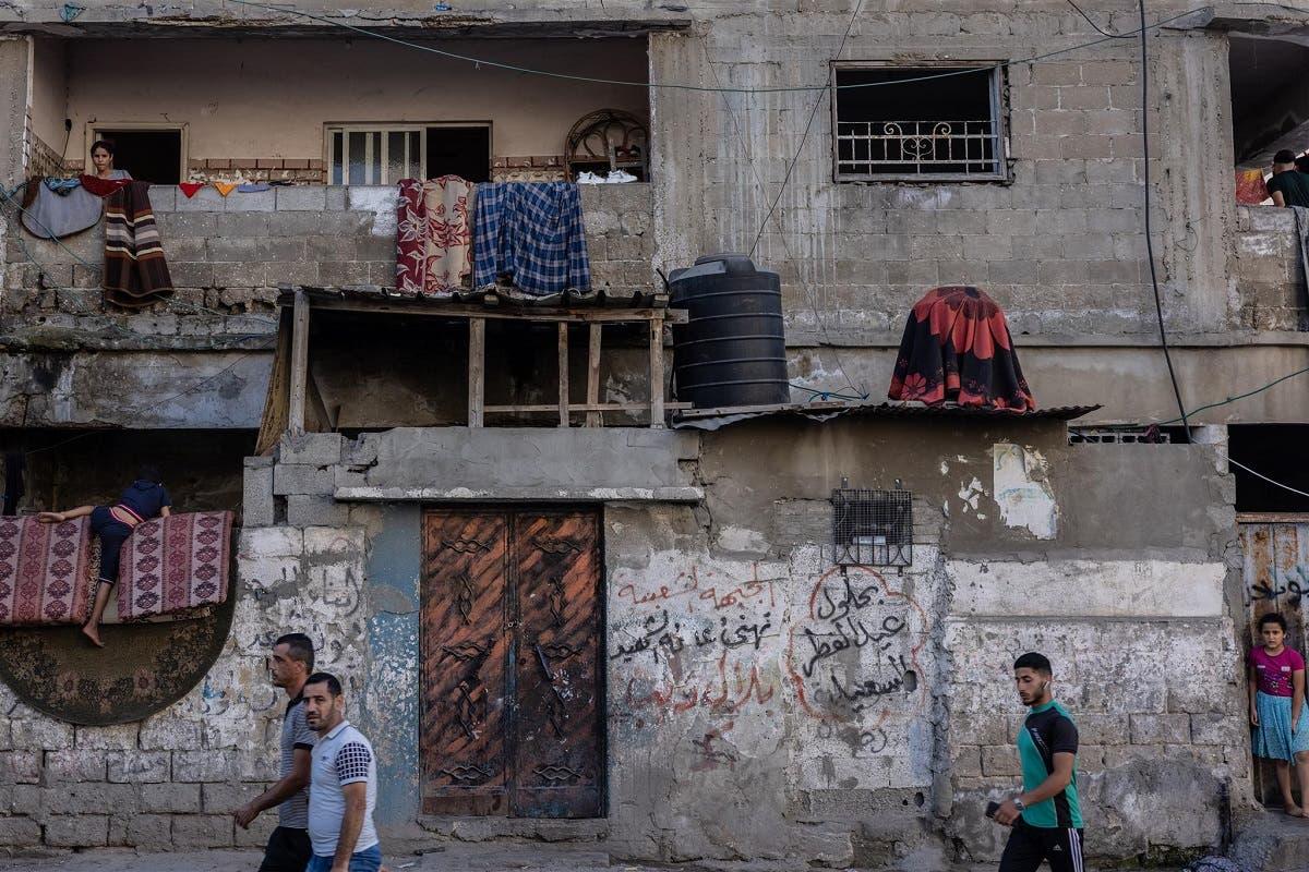 Old homes in the Rimal area in central Gaza, June 18, 2021. June 24, 2021. (Thomson Reuters Foundation/Stefanie Glinski)