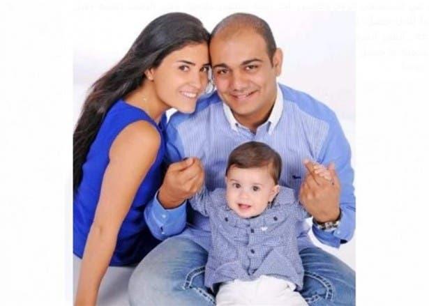 جهاد سعادة مع عائلته