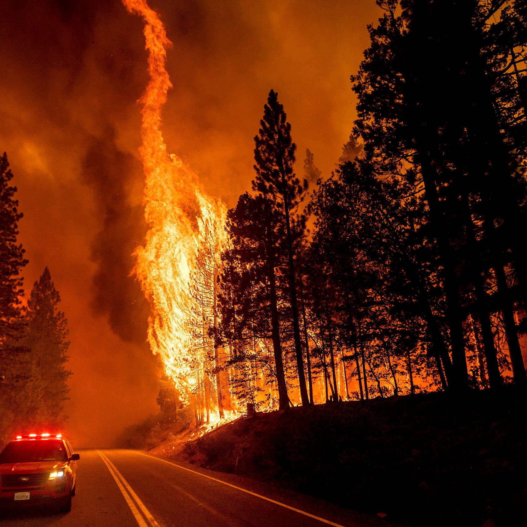 US wildfire engulfs entire California town, leveling businesses, homes