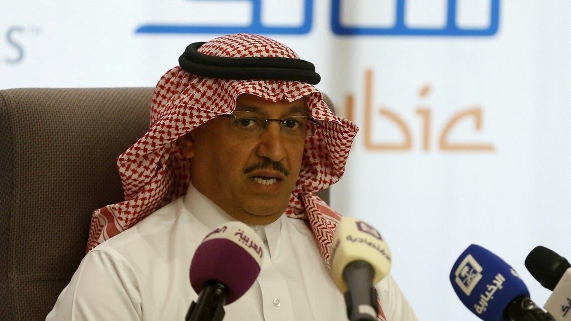 SABIC CEO Yousef Abdullah al-Benyan speaks during a news conference in Riyadh, Saudi Arabia. (Reuters)