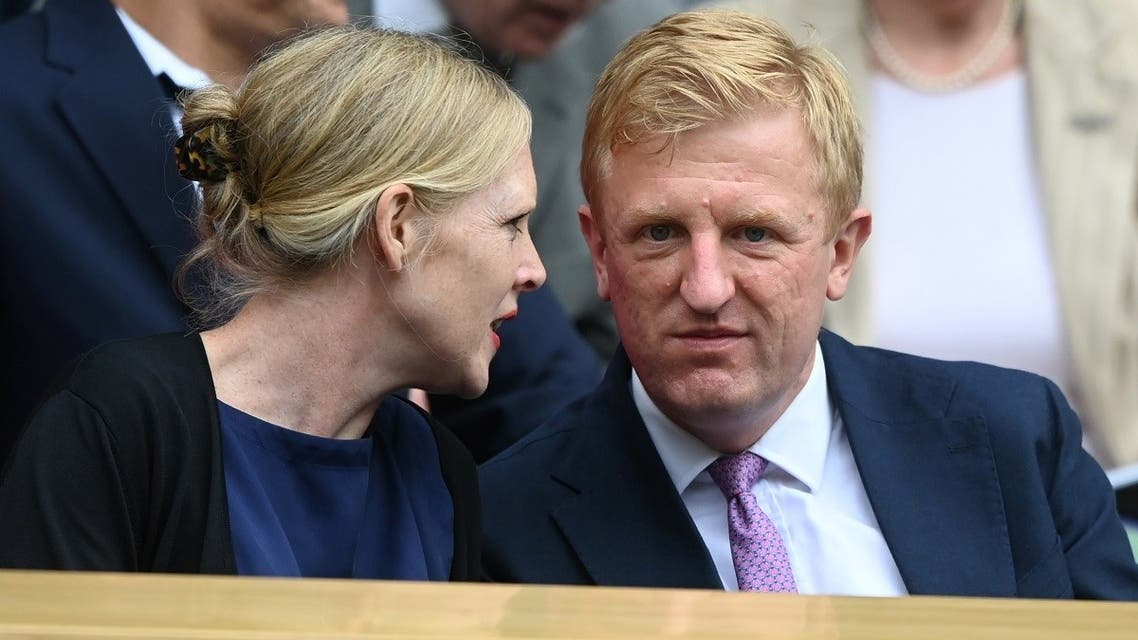 Secretary of State for Digital, Culture, Media and Sport Oliver Dowden before the women's final at the Wimbledon, London, UK, on July 10, 2021. (Reuters)