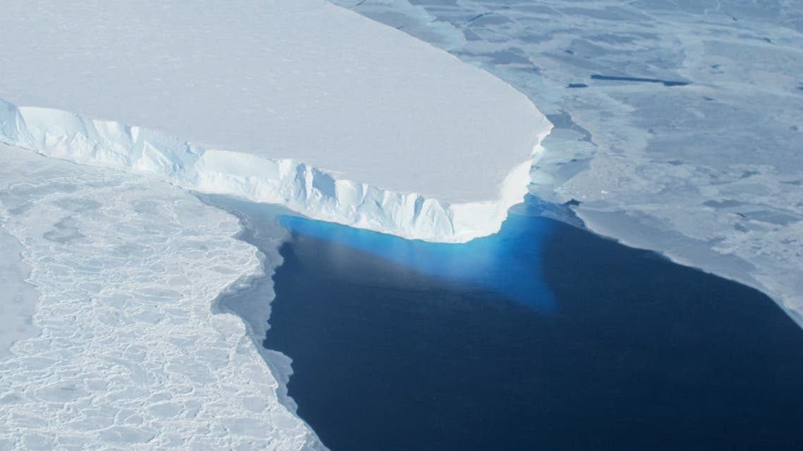 This undated photo courtesy of NASA shows Thwaites Glacier in Western Antarctica. Human-driven climate change is threatening a critical current system that plays a key role in transporting warmer and cooler waters throughout the Atlantic which could have dire impacts on Earth's other critical ecosystems, including the Antarctic ice sheet. (File photo: AFP)