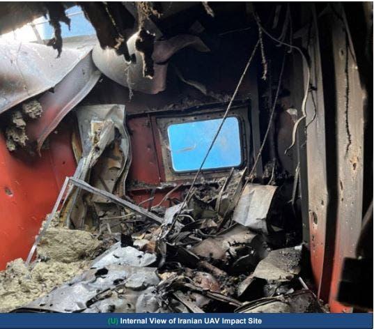 من الأضرار التي طالت سفينة ميرسر ستريت - من بيان القيادة الأميركية