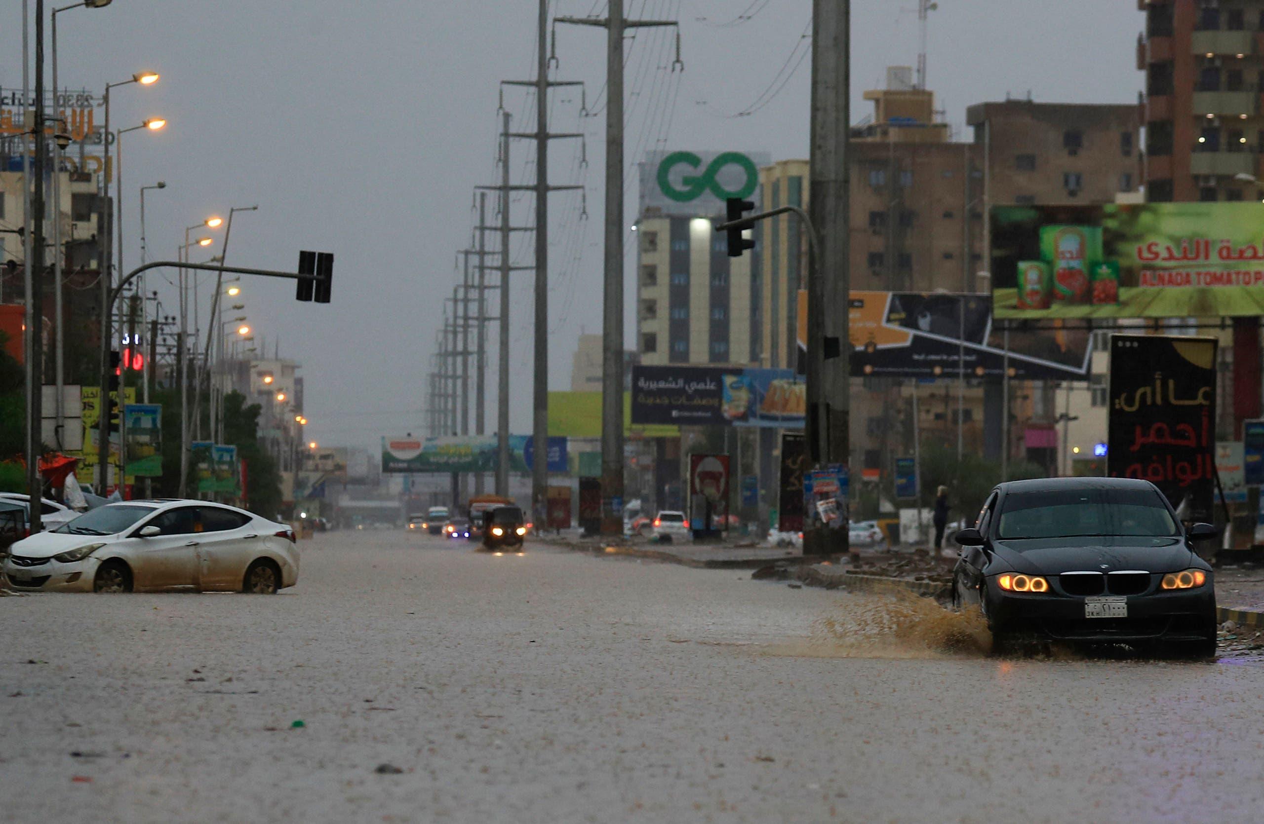 من الفيضانات في الخرطوم