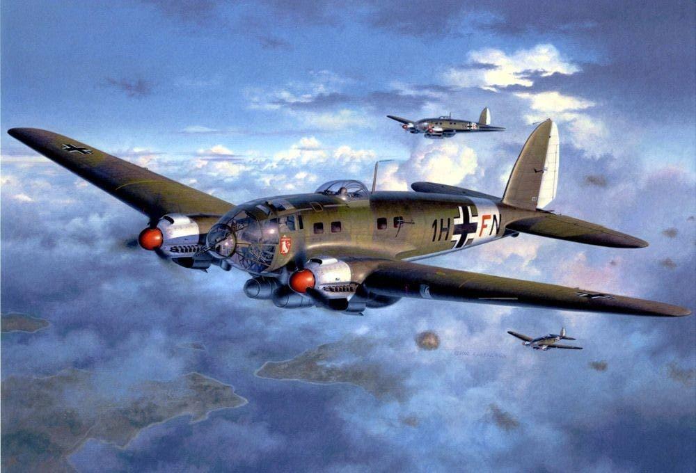 رسم تخيلي لطائرة من نوع هنكل هي 111