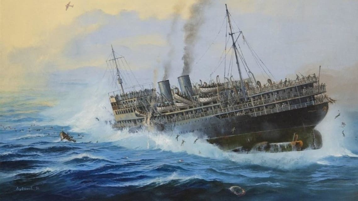 رسم تخيلي لكارثة السفينة أرمينيا