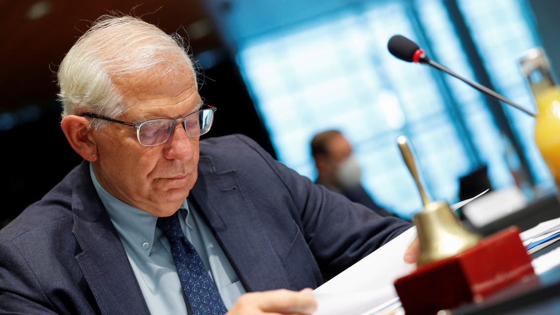 European Union Foreign Policy Chief Josep Borrell takes part in the European Union foreign ministers meeting, in Luxembourg, June 21, 2021. REUTERS/Johanna Geron/Pool REFILE - CORRECTING TYPO