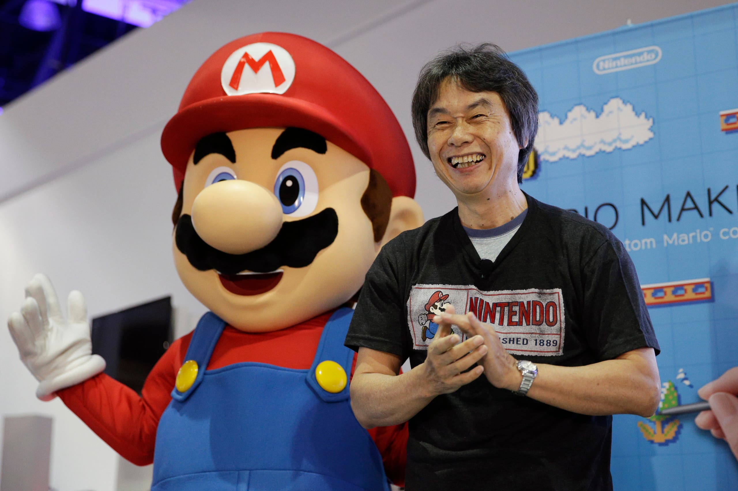 In this June 11, 2014 file photo, Japanese video game designer Shigeru Miyamoto introduces the Nintendo's Mario Maker during a press event at the Nintendo booth at the Electronic Entertainment Expo, in Los Angeles. After rebounding with last year's Mario Kart 8 and Super Smash Bros. (File photo: AP)