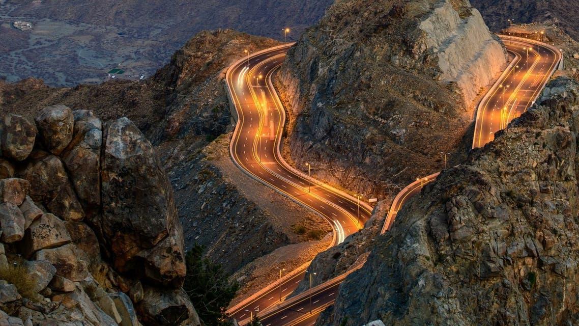 الطريق الحلزوني بالطائف