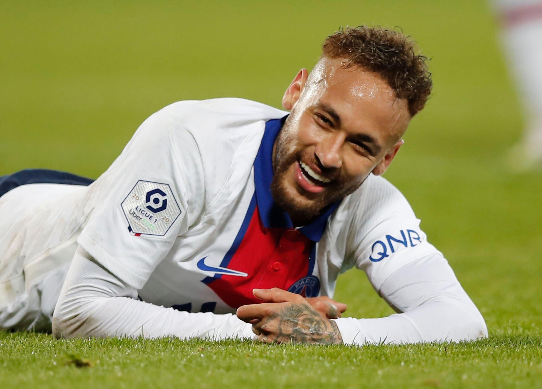 Soccer Football - Ligue 1 - Brest v Paris St Germain - Stade Francis-Le Ble, Brest, France - May 23, 2021 Paris St Germain's Neymar. (Reuters)