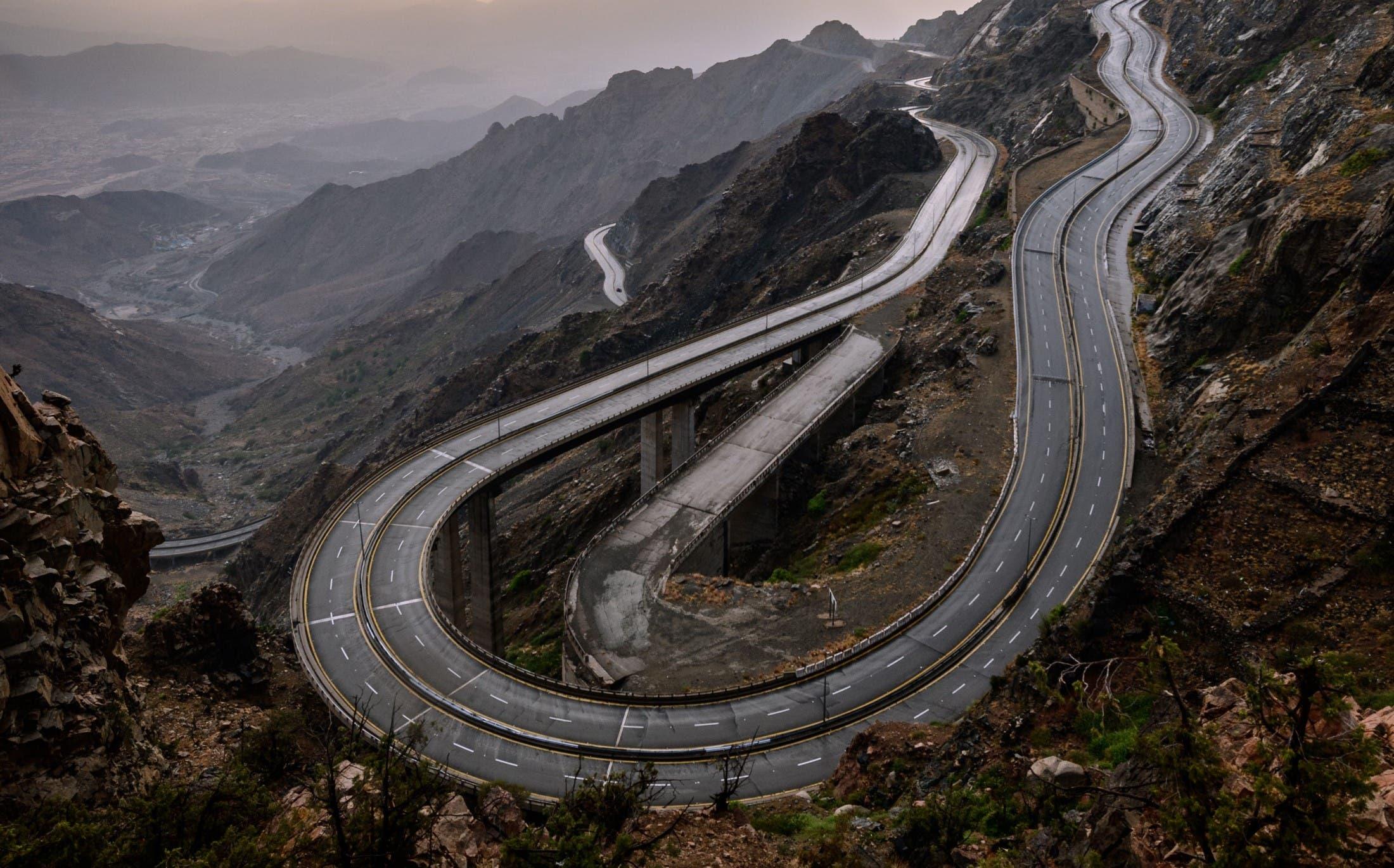 الطريق الحلزوني بالطائف 2