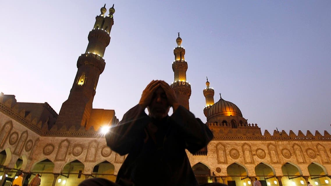 A Muslim prays after Maghrib (evening) prayer on the night of the Hijri New Year, also known as Islamic new year (Ras al-Sanah al-Hijriya) at Al Azhar mosque in old Cairo November 14, 2012. (Reuters)