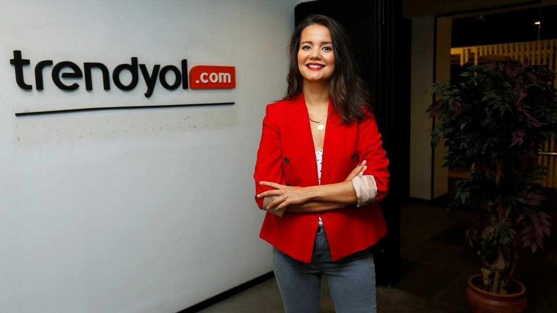 Demet Mutlu, founder and CEO of Turkey's leading fashion e-commerce company Trendyol, poses in Istanbul, Turkey. (Reuters)