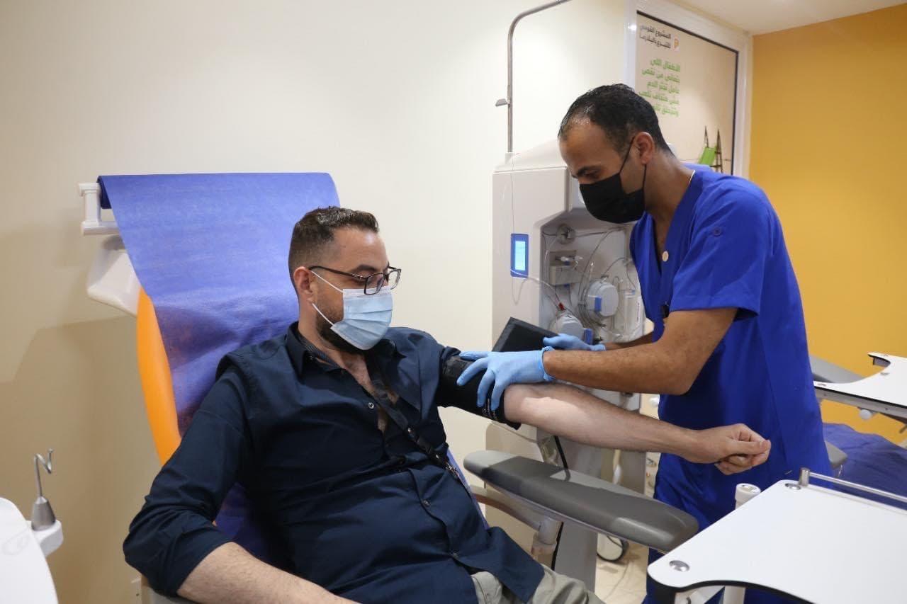من عملية التبرع ببلازما الدم