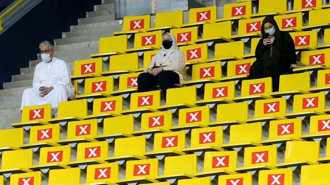 King Saud University Stadium, Riyadh, Saudi Arabia - March 30, 2021 Fans inside the stadium before the match REUTERS