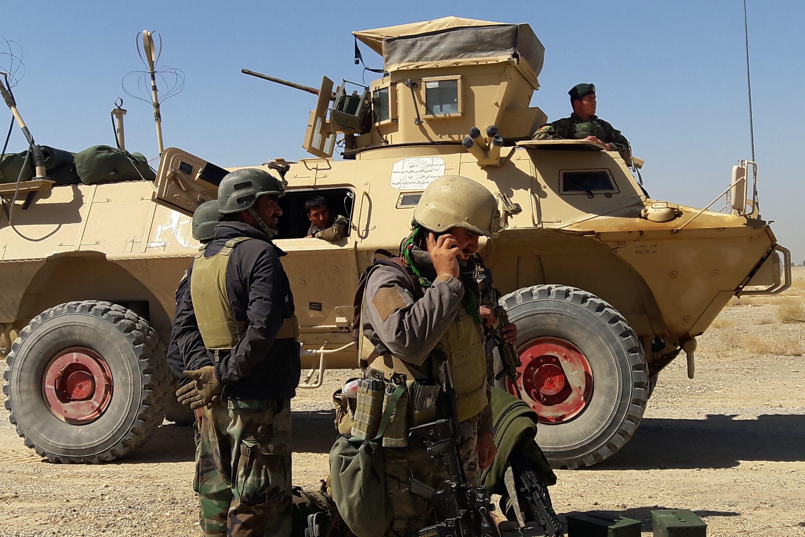 من القوات الأفغانية