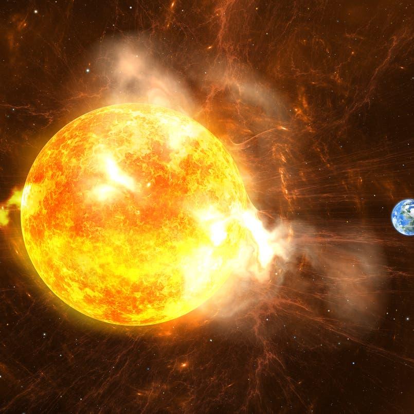 ما حقيقة الانفجار الشمسي الذي تسبب بارتفاع درجة حرارة الأرض؟