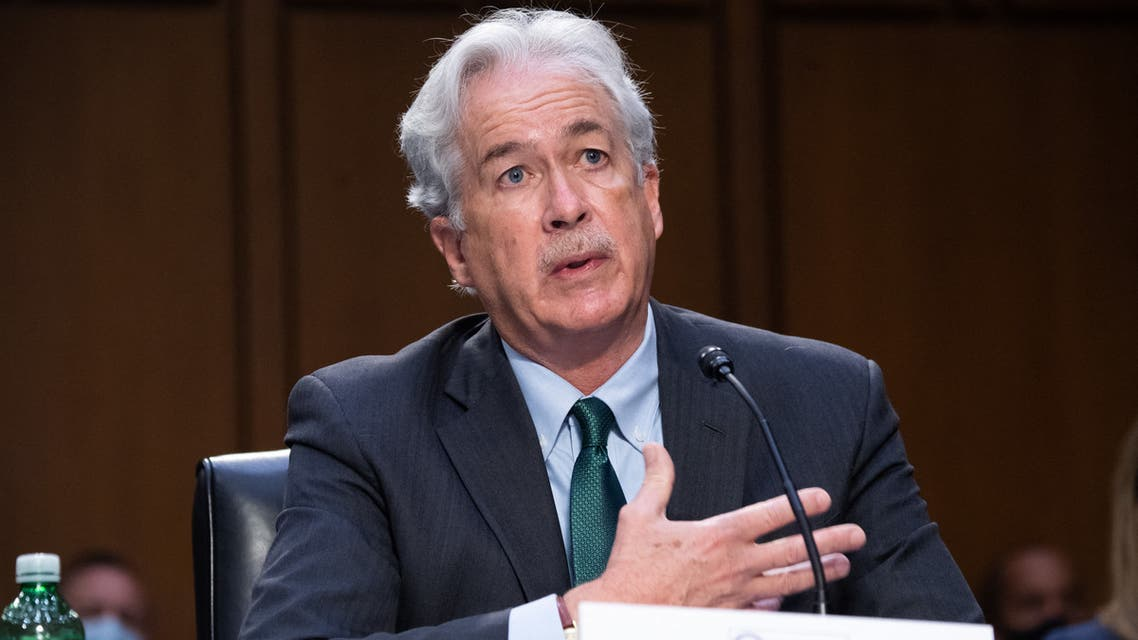 CIA Director William Burns testifies during a Senate Select Committee on Intelligence hearing about worldwide threats, on Capitol Hill in Washington, DC, April 14, 2021.