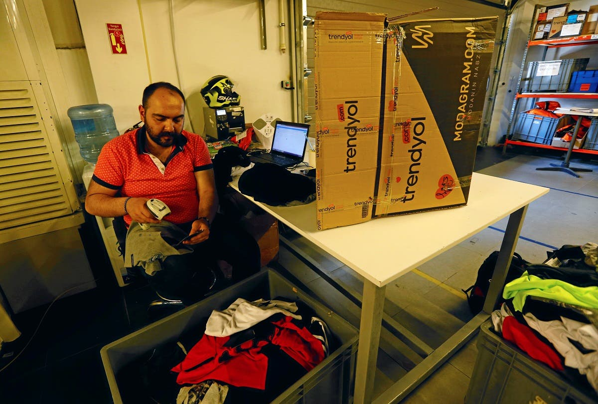 An employee works at the main office of Trendyol, Turkey's leading fashion e-commerce company, in Istanbul, Turkey. (Reuters)