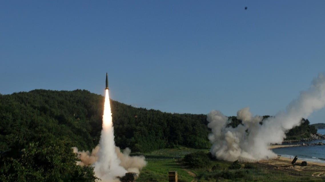 US and S.Korean troops utilizing the Army Tactical Missile System (ATACMS) and South Korea's Hyunmoo Missile II, fire missiles into the waters of the East Sea, off South Korea, July 5, 2017. (8th United States Army/Handout via Reuters)