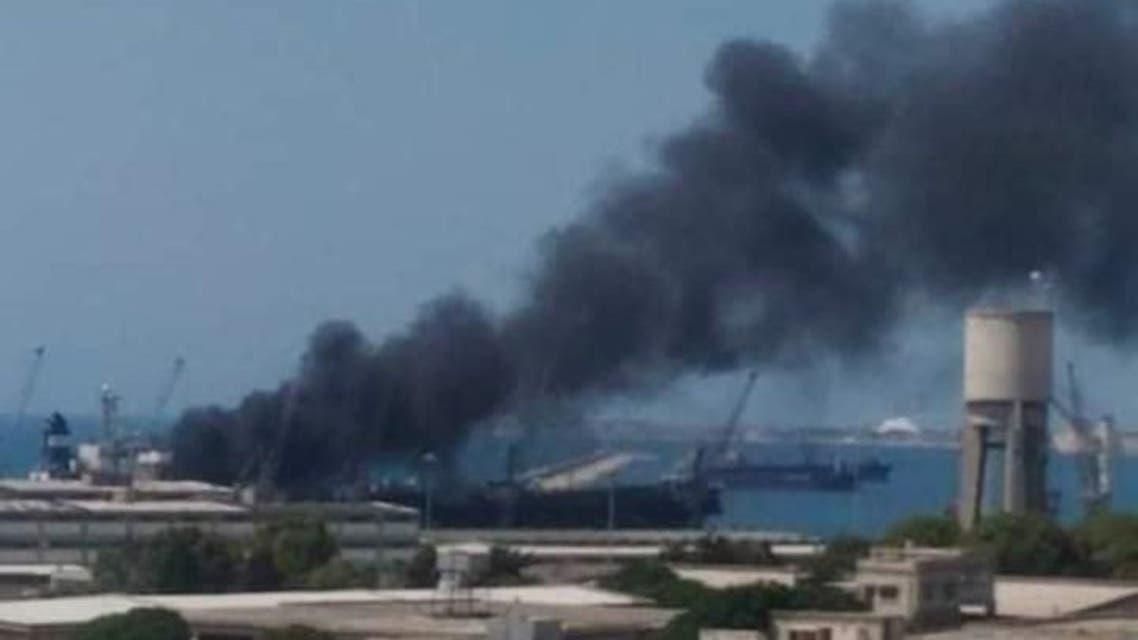 انفجار-مجهول-بسفينة-تجارية-راسية-في-مرفأ-اللاذقية-720x430