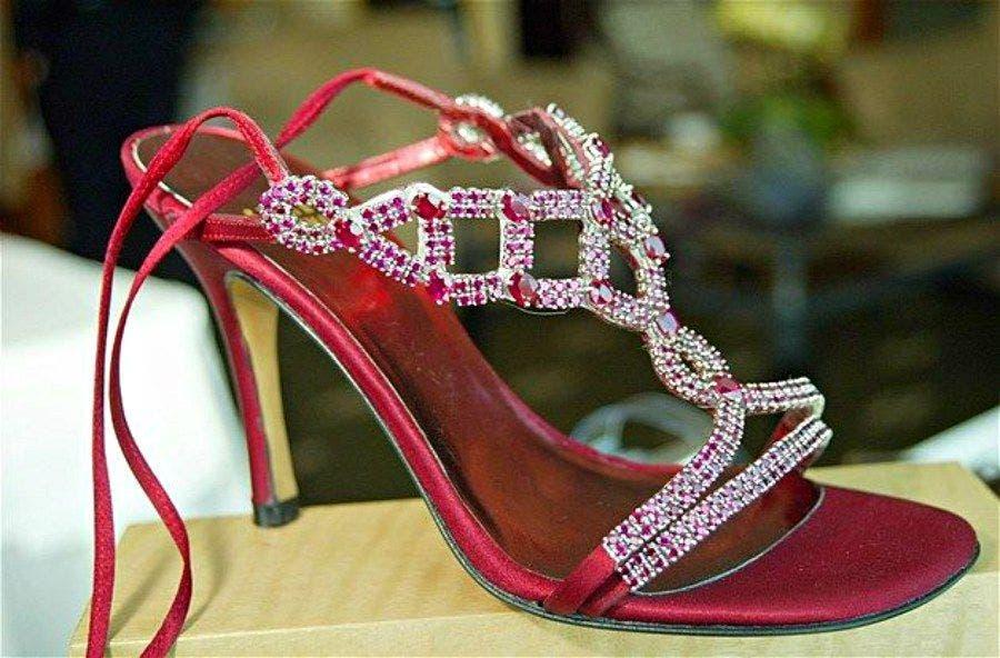 Stuart Weitzman ruby stilettos. Price tag: $1.6million. (Supplied)