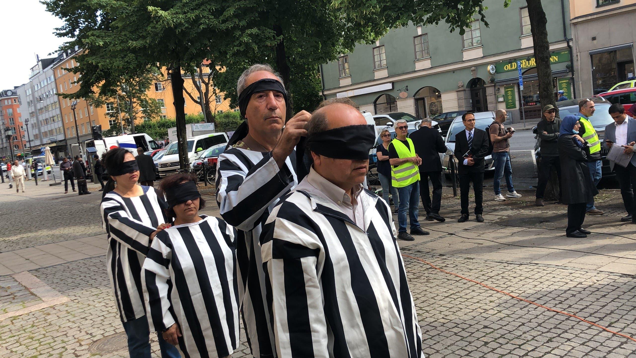 من التظاهرات ضد حميد نوري في ستوكهولم