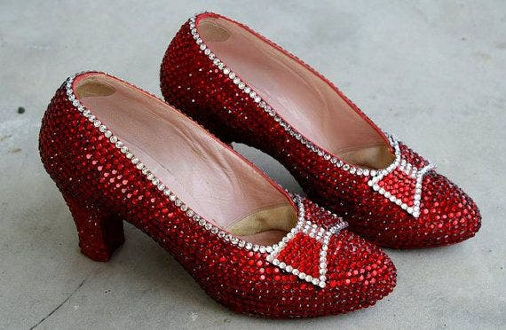 Harry Winston ruby slippers. Price tag: $3 million. (Supplied)