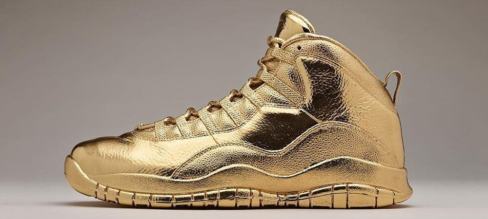 Solid Gold OVO x Air Jordans. Price tag: $2 million. (Twitter)