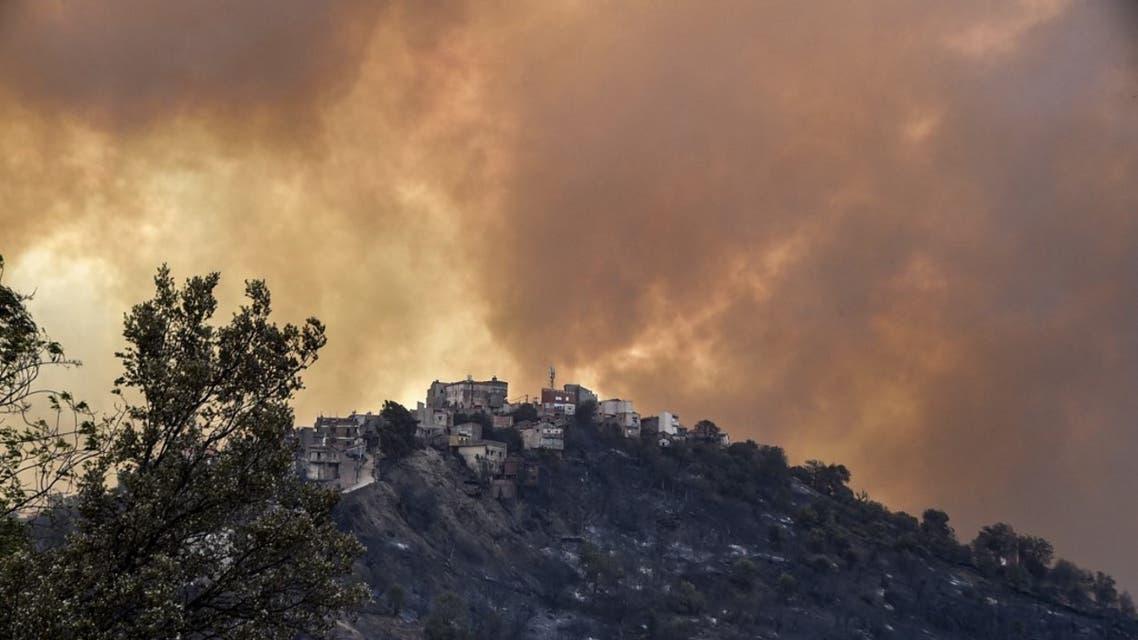 حرائق الجزائر في ولاية تيزي وزو