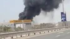 Huge blaze breaks out in plastics factory in Dubai's Jebel Ali
