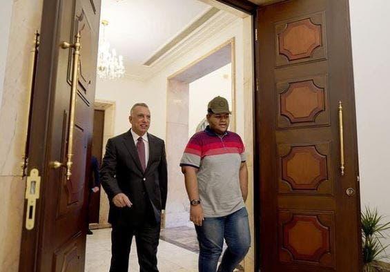 خلال استقباله من قبل الكاظمي (انستغرام)
