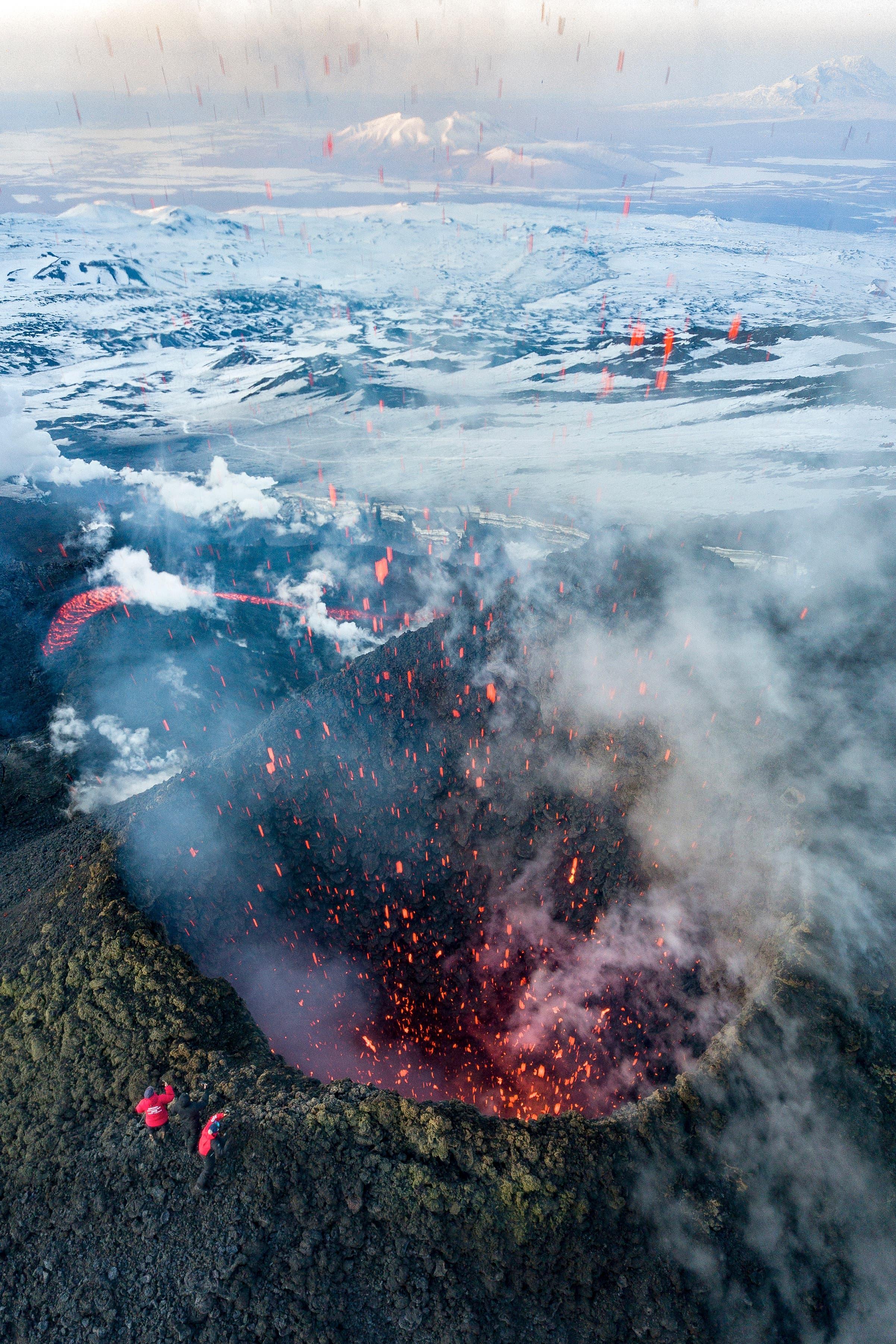 بركان في منطقة كامشاتكا